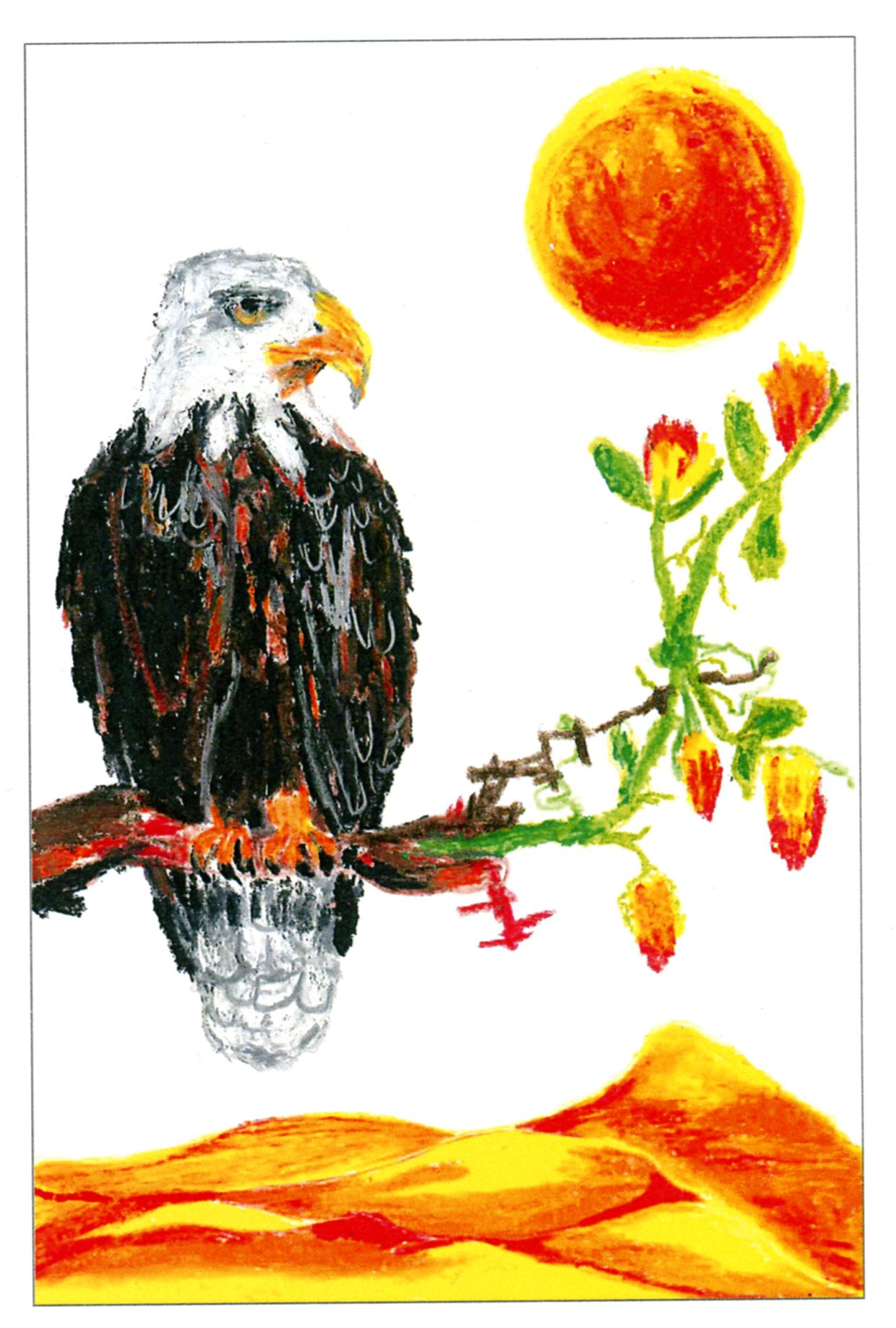abstract surrealism Bald Eagle