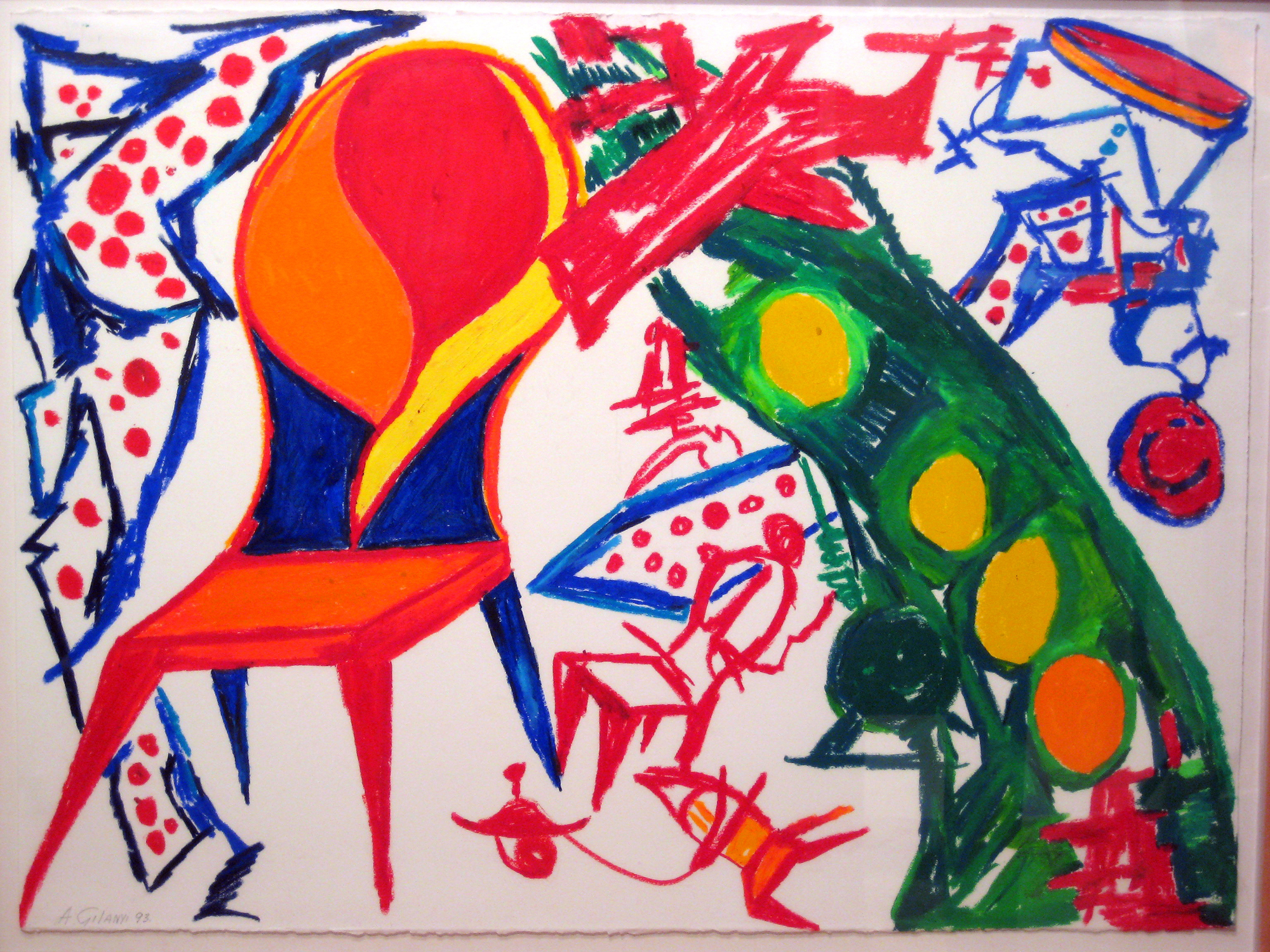 abstract surrealism drawing by Armand Gilanyi