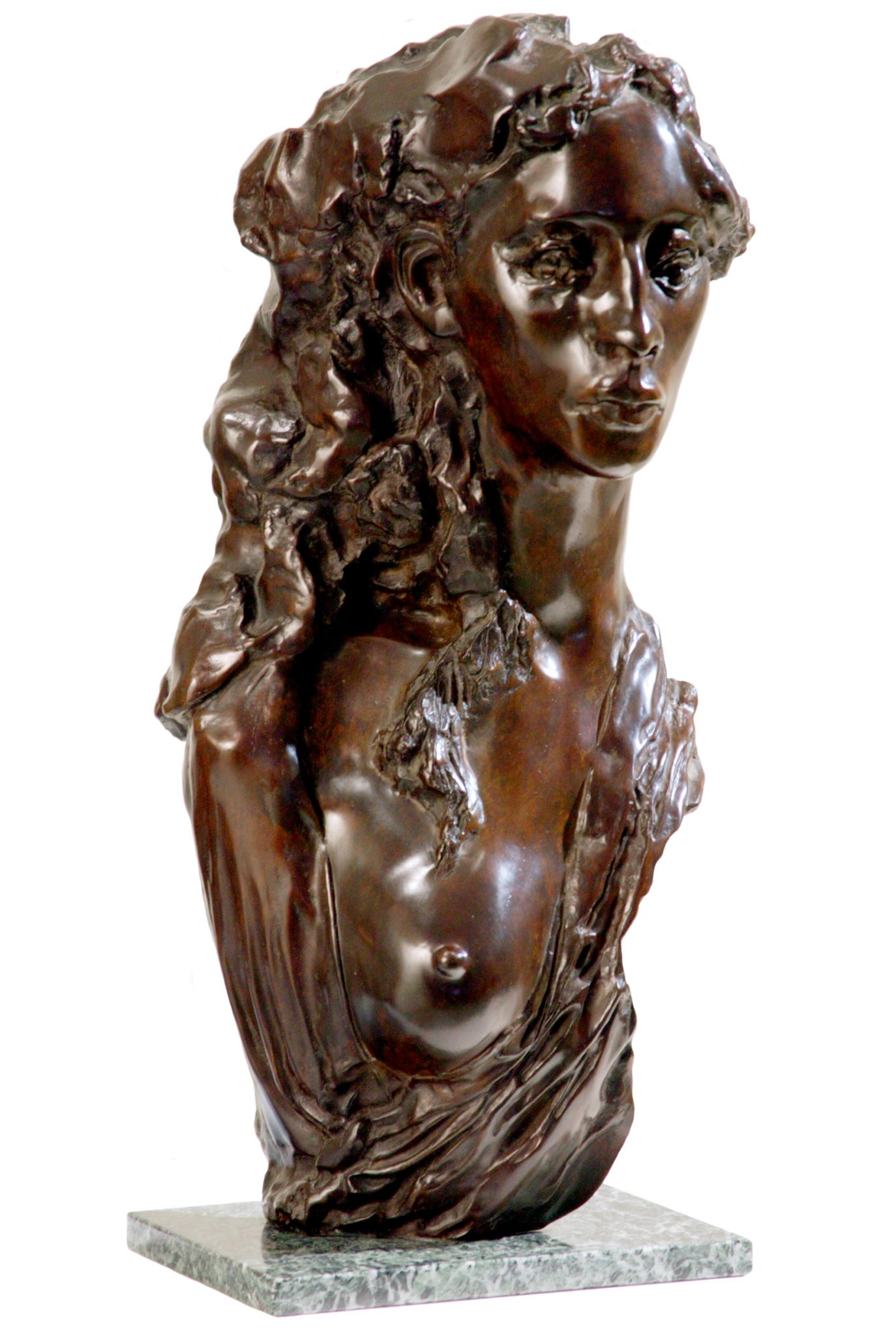 Womand bronze bust